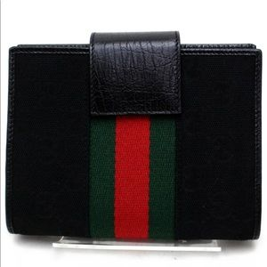 Gucci Diary Cover Sherry Line Black Canvas